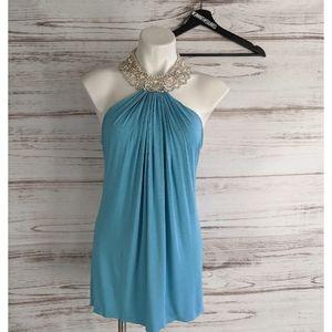 nwt Sky Clothing Rhinestone Necklace Mini Dress